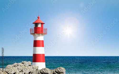 Fotobehang Vuurtoren Leuchtturm