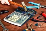 разбитый калькулятор