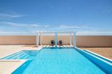 Poolside pergola and swimming pool - 135737860