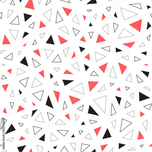 Tapeta ścienna na wymiar Seamless abstract vector pattern with irregular triangles