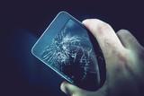Damaged Smartphone Screen