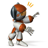 声をかけるキュートなロボット