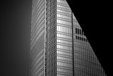 windows of commercial building in Hong Kong with B&W color  - 135764474