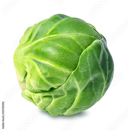 Papiers peints Bruxelles Brussels sprouts isolated on white
