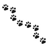 Fototapety Paw Print vector illustration.