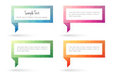 Text frame and speech bubble templates in modern low poly design