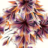Beautiful vector pattern with plants flowers. Ideal for fabric p