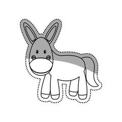 Donkey animal cartoon icon vector illustration graphic design