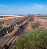 Outback Australia: Railroad tracks at Port Hedland