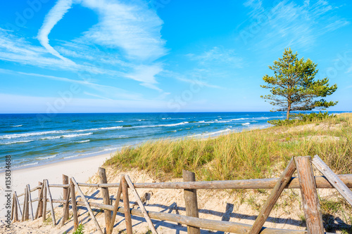 Fototapety, obrazy : Entrance to sandy Bialogora beach, Baltic Sea, Poland
