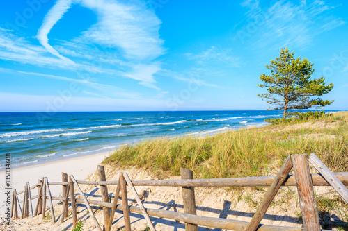 Zdjęcia na płótnie, fototapety na wymiar, obrazy na ścianę : Entrance to sandy Bialogora beach, Baltic Sea, Poland