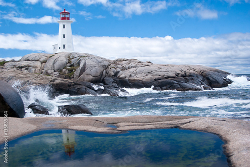 Foto op Canvas Canada Sunny Day, Peggy's Cove, Nova Scotia