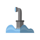 submarine periscope underwater ocean shadow vector illustration eps 10