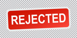 Rejected sticker red. Flat vector illustration
