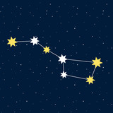 big dipper constellation astrology stars night illustration vect