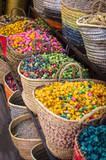 Flowers in a market in Marrakech