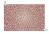 Vector Maze for Children - 135857610