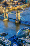 Tower Bridge, view from the Shard, London, UK - 135867662
