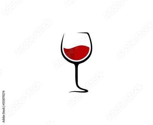 Fototapeta Wine glass logo