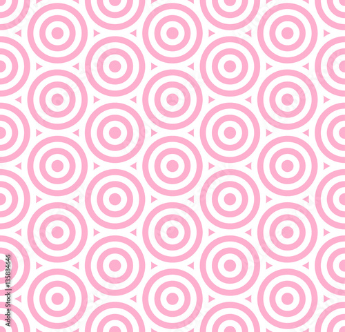 Pattern stripe seamless pink and white colors valentine background. Circle pattern stripe abstract background vector. - 135884646