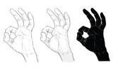 ok signal ,hand signal
