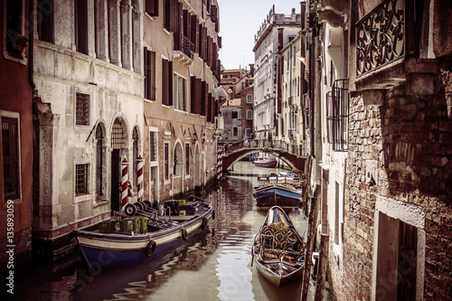 Poster Vintage scenic Venice city