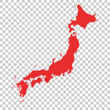 Japan Vector Map on isolated background
