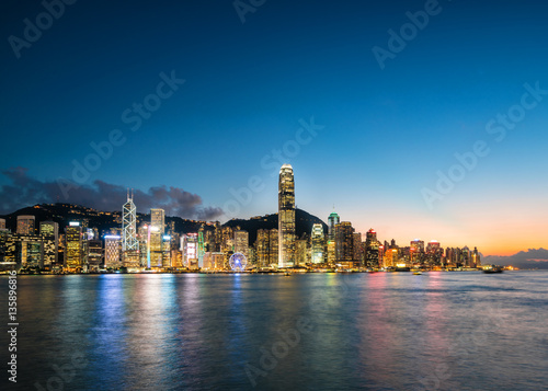 Victoria Harbour - Hong Kong at Night