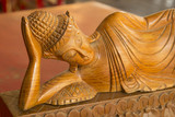 buddha wooden carving. Thai style wooden carving