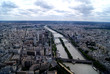Panoramic view of Paris from the Eiffel Tower