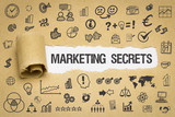 Marketing Secrets / Papier mit Symbole