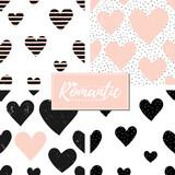 Romantic Seamless Patterns Set - 135908039