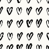 Hand Painted Hearts Pattern - 135908489