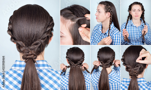 hairstyle ponytail tutorial © alter_photo