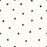 Hand Drawn Hearts Pattern - 135908618