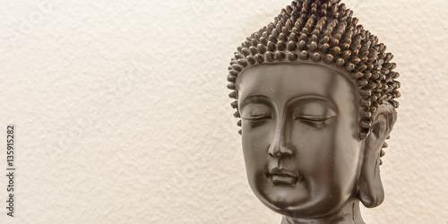 Buddha auf weissem Hintergrund Poster