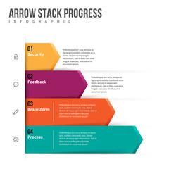 Arrow Stack Progress Infographic