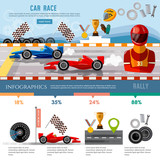 Car racing infographic, auto sport championship - 135919459