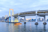 Twilight Tokyo Rainbow bridge