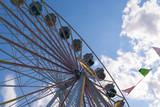 Riesenrad auf einem Jahrmarkt, Teilansicht