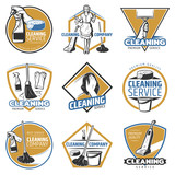 Colorful Cleaning Service Labels