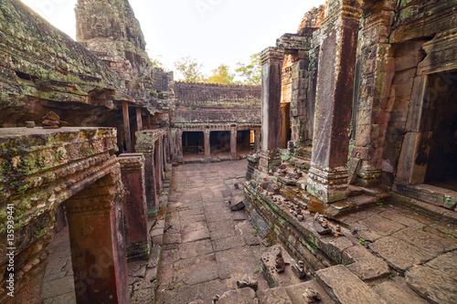 Ancient ruins of Bayon temple