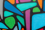 Abstract beautiful street art colorful graffiti style closeup. Modern iconic urban culture of youth. Detail. Can be useful for backgrounds