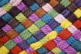 Colorful yarn weave close up - 135949854