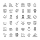 Outline icons. School