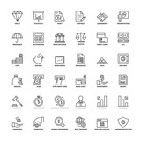 Outline icons. Finances