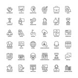 Fototapety Outline icons. Business