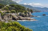Beautiful Nervi gardens, seaside. Genoa, Italy