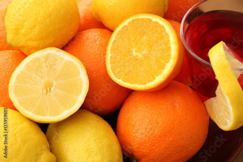 orangen mit smoothie plakat poster p. Black Bedroom Furniture Sets. Home Design Ideas