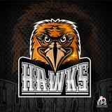 Bird head logo for any sport team hawks